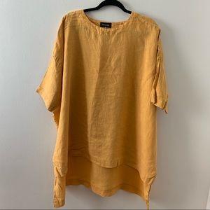 Eskandar longer back Linen tunic